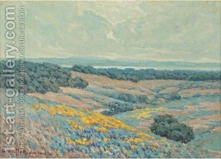 California Landscape by Granville Redmond - Reproduction Oil Painting