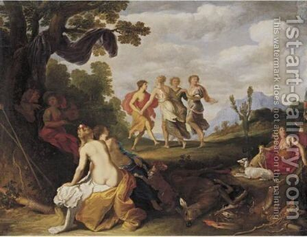 Diana And Her Nymphs After The Hunt by Isaac Isaacsz - Reproduction Oil Painting