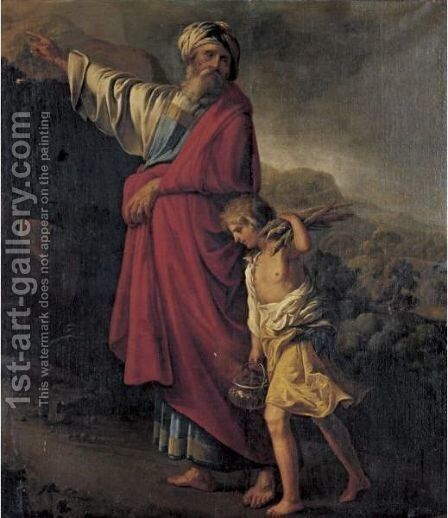 Abraham And Isaac by (after) Adriaen Van Utrecht - Reproduction Oil Painting