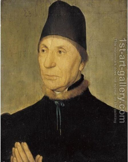 Portrait Of An Old Man by (after) Dieric The Elder Bouts - Reproduction Oil Painting