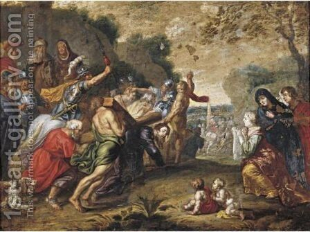 Christ On The Road To Calvary by (after) Willem Van, The Elder Herp - Reproduction Oil Painting