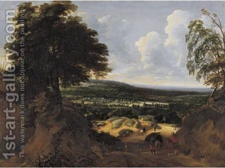 Landscape In Brabant by Jaques D'Arthois - Reproduction Oil Painting