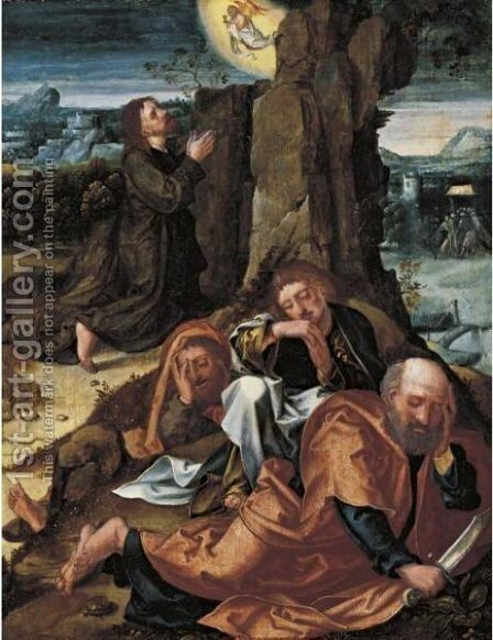 Agony In The Garden by South Netherlandish School - Reproduction Oil Painting