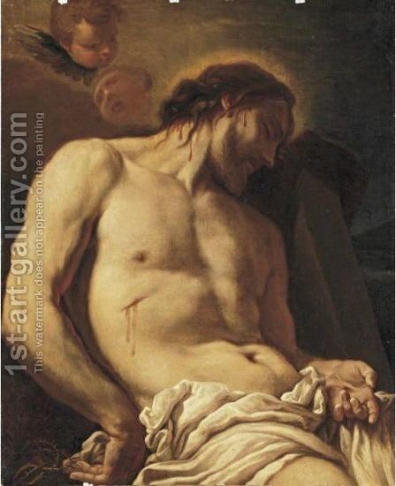 Christ Before The Tomb by Antonio Molinari - Reproduction Oil Painting