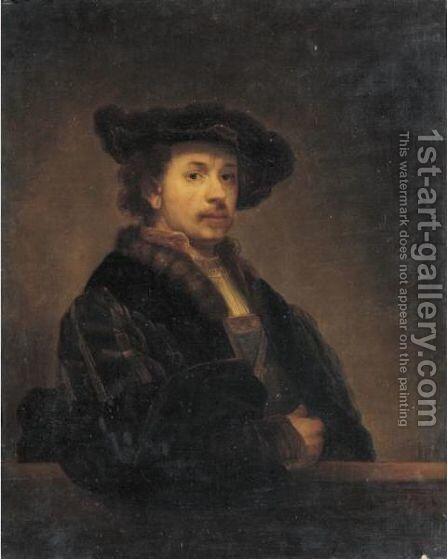 Portrait Of Rembrandt Van Rijn by (after) Rembrandt Van Rijn - Reproduction Oil Painting