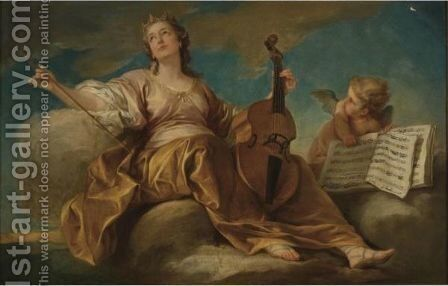 Allegory Of Music by Carle van Loo - Reproduction Oil Painting