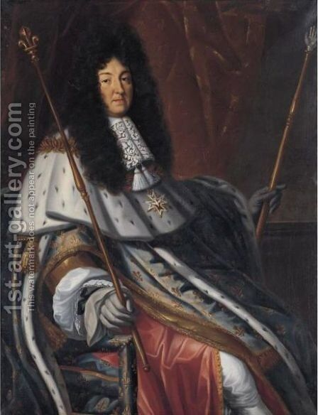Portrait Of Louis XIV by (after) Henri Testelin - Reproduction Oil Painting