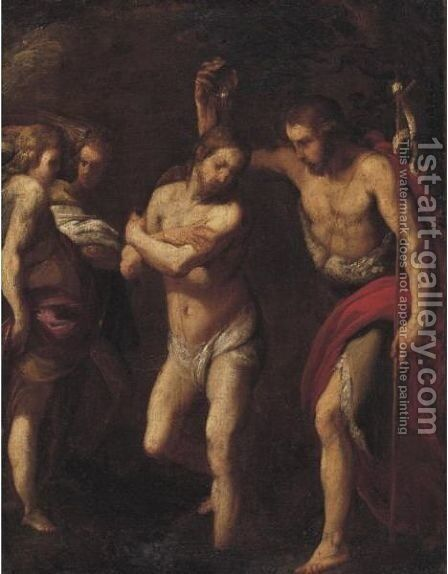 Baptism Of Christ by Daniele Crespi - Reproduction Oil Painting