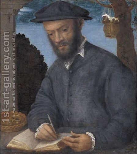 Portrait Of A Scribe by (after) Vittore Di Matteo Belliniano - Reproduction Oil Painting