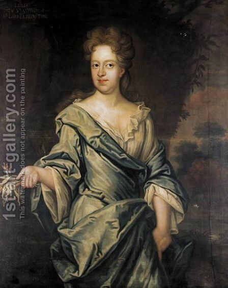 Portrait Of Lilias (D.1675), Daughter Of Alexander, 5th Lord Elphinstone by (after) David Scougall - Reproduction Oil Painting