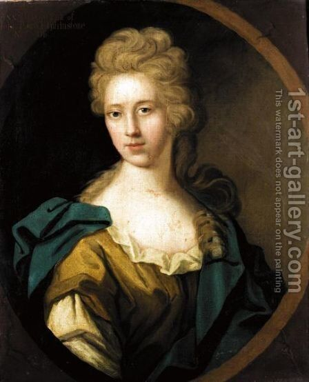 Portrait Of A Lady, Traditionally Identified As Anne, Daughter Of John, 11th Lord Elphinstone by (after) Henry Tilson - Reproduction Oil Painting