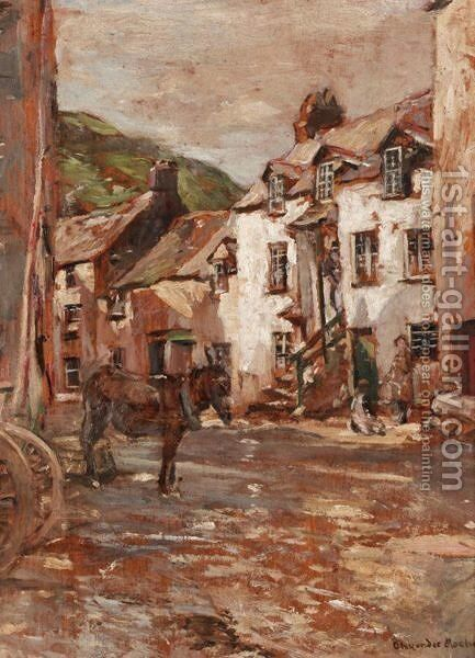 The Village Of Polperro by Alexander Ignatius Roche - Reproduction Oil Painting