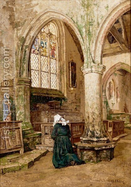 At Prayer by Aloysius O'kelly - Reproduction Oil Painting