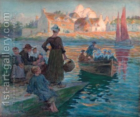 The Ferry, Concarneau by Aloysius O'kelly - Reproduction Oil Painting