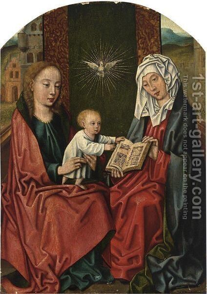 The Virgin Mary And Child With St. Anne by South Netherlandish School - Reproduction Oil Painting