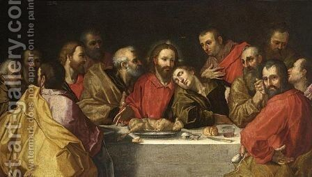 The Last Supper by (after) Peter (Peter Candid) Witter - Reproduction Oil Painting