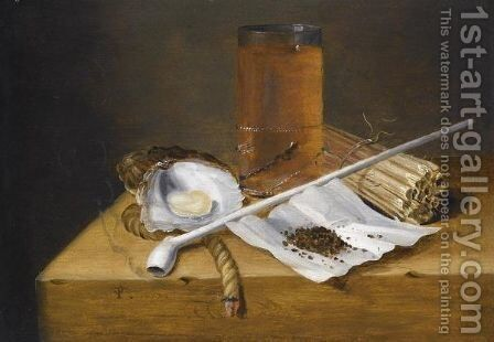 A Toebackje Still Life With A Pipe by Theodoor Smits - Reproduction Oil Painting