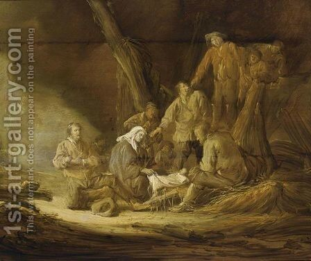 The Adoration Of The Shepherds 4 by Benjamin Gerritsz. Cuyp - Reproduction Oil Painting