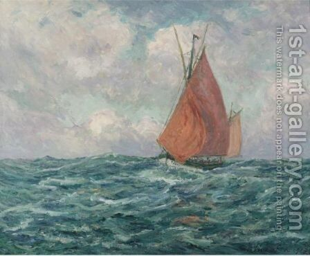 Thonier En Mer by Maxime Maufra - Reproduction Oil Painting
