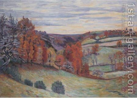 Paturages Des Granges, Crozant by Armand Guillaumin - Reproduction Oil Painting