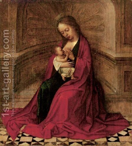 The Virgin And Child In An Interior by Adriaen Isenbrandt (Ysenbrandt) - Reproduction Oil Painting