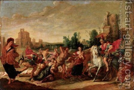 Landscape With The Massacre Of The Innocents by (after) Frans II Francken - Reproduction Oil Painting