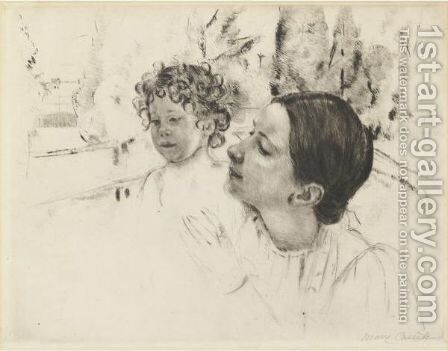 By The Pond 2 by Mary Cassatt - Reproduction Oil Painting