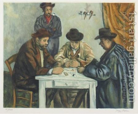 Les Joueurs De Cartes by Paul Cezanne - Reproduction Oil Painting