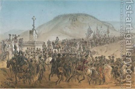 Military Scene by (after) Gagarin, Grigori Grigorevich - Reproduction Oil Painting