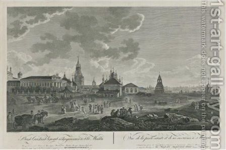 View Of The Spasskii Gates Of The Kremlin And Their Surroundings by Guerard De La Barte - Reproduction Oil Painting