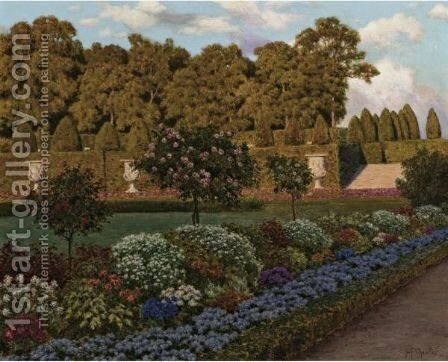 Springtime In The Garden by Ivan Fedorovich Choultse - Reproduction Oil Painting