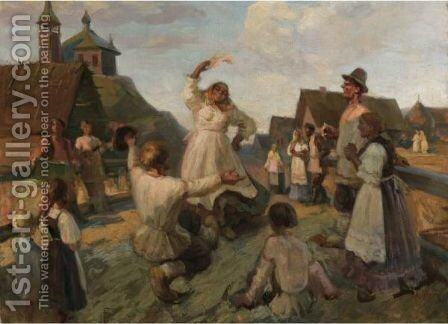 Joyful Dance by Alexander Petrovich Sokolov - Reproduction Oil Painting