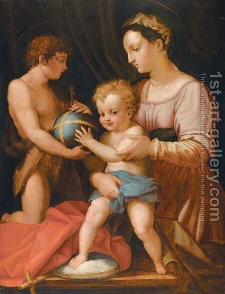 The Holy Family With Saint John ('The Borgherini Holy Family') by (after) Andrea Del Sarto - Reproduction Oil Painting