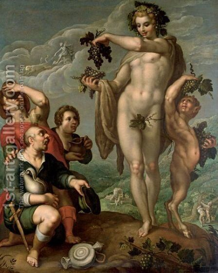 An Allegory Of Autumn by (after) Hendrick Goltzius - Reproduction Oil Painting