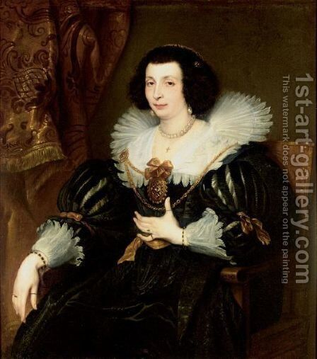 Portrait Of Anna Maria De Camudio by (after) Dyck, Sir Anthony van - Reproduction Oil Painting