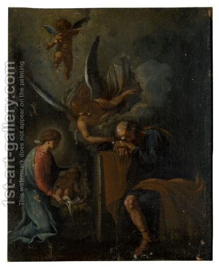 Joseph Dreaming by Italian School - Reproduction Oil Painting