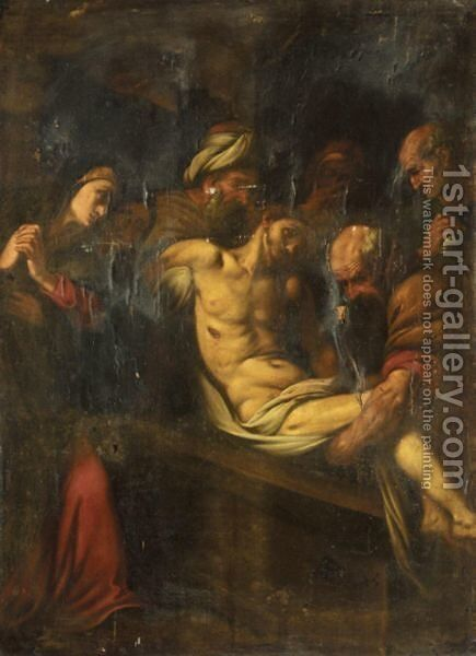 The Deposition Of Christ by Italian School - Reproduction Oil Painting