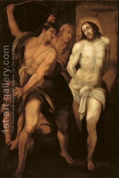 The Flagellation by (after) Giuseppe (d'Arpino) Cesari (Cavaliere) - Reproduction Oil Painting