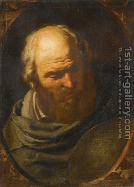 Democritus by Italian School - Reproduction Oil Painting