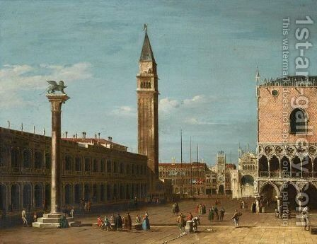 Venice, A View Of The Piazzetta Looking North From The Molo by (after) (Giovanni Antonio Canal) Canaletto - Reproduction Oil Painting
