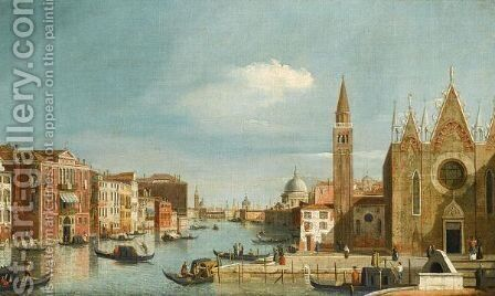 Venice, A View Of The Grand Canal From Santa Maria Della Carita To The Bacino Di S. Marco by (after) (Giovanni Antonio Canal) Canaletto - Reproduction Oil Painting