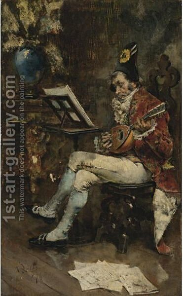 The Musician by Giovanni Boldini - Reproduction Oil Painting