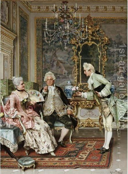 The Suitor by Arturo Ricci - Reproduction Oil Painting