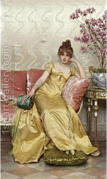 Reverie by Charles Joseph Frederick Soulacroix - Reproduction Oil Painting