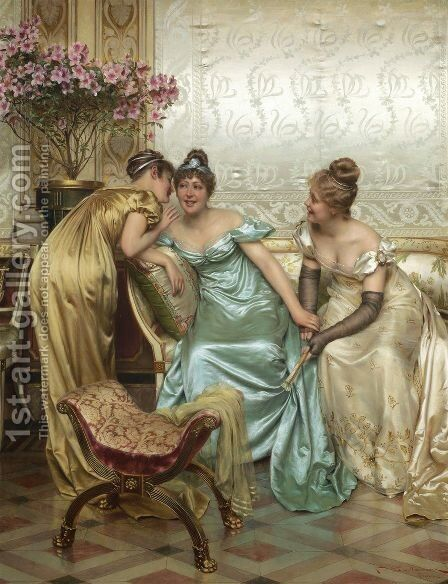 Secrets by Charles Joseph Frederick Soulacroix - Reproduction Oil Painting