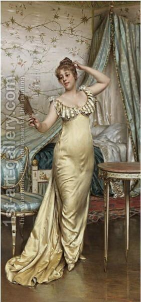 A Show Of Vanity by Charles Joseph Frederick Soulacroix - Reproduction Oil Painting