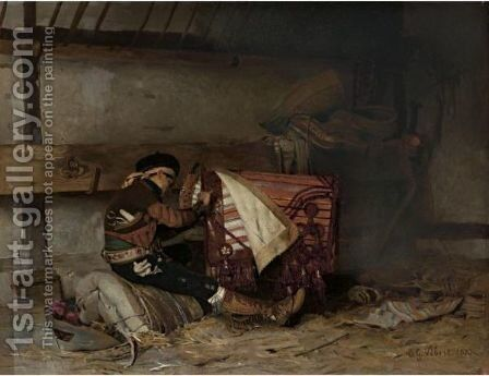 The Spanish Saddle Maker by Jehan Georges Vibert - Reproduction Oil Painting