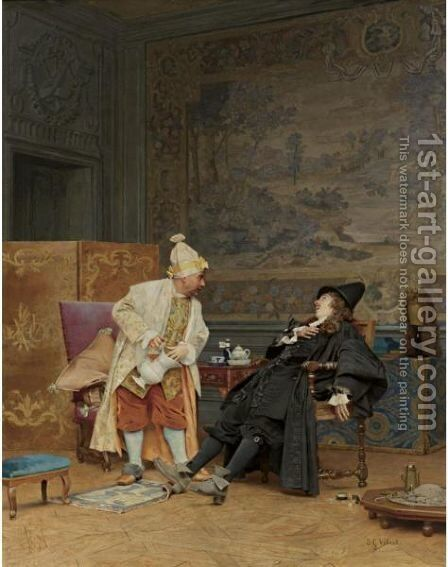 Le Medecin Malade by Jehan Georges Vibert - Reproduction Oil Painting
