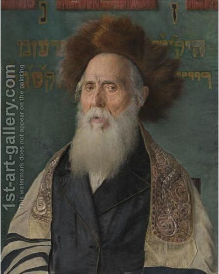 Portrait Of A Rabbi 3 by Isidor Kaufmann - Reproduction Oil Painting