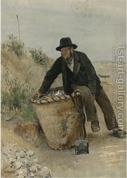 Le Chiffonier (The Ragpicker) by Jean-Francois Raffaelli - Reproduction Oil Painting